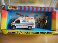 Matchbox Ford Transit Ambulance in White in Box