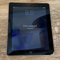LOCKED/DISABLED & CRACKED SCREEN Apple iPad 3rd Gen. 16GB, Wi-Fi, 9.7in - Black