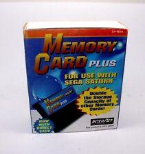 CARD of MEMORY InterAct PLUS MEMORY CARD PLUS backup expansion Sega Saturn