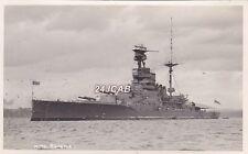 "Royal Navy Real Photo. HMS ""Revenge"" Lead Battleship. Photo: Cornhill.  c 1938"