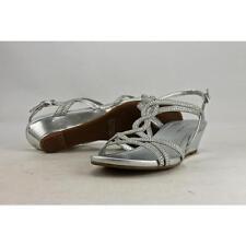 Bandolino Gilnora Women US 8 Silver Wedge Sandal Pre Owned  1289