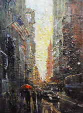Original Painting by American Artist J.Jung / Cityscape# 0141LC_JJ19