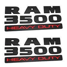 "2pc 2015-2018 Black Dodge ""Ram 3500 Heavy Duty"" Emblem Nameplate NEW Mopar OEM"