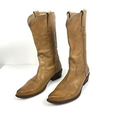 Frye Tan Leather Hutch Pull On Cowboy Boots 77710 Size 8.5