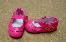 Doll Shoes, 47mm DARK PINK Classic Ankle Straps - Bitty Bethany