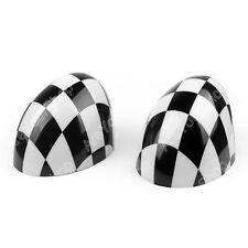 2 Checke Side Mirror Caps Covers for MINI Cooper Hardtop 2014 F55 & 2015 F56 UE