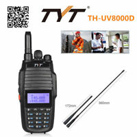 Dual Display TYT TH-UV8000D CTCSS 3600mAh 2xBand U/V Ham Radio Walkie Talkies