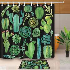 Cactus Flower Saguaro Fruit Waterproof Bathroom Fabric Shower Curtain 71inches