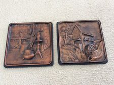 Vintage 3D Wall Art-Rustic Copper Color-Plastic-purchased in 1962-Pre-owned- (2)