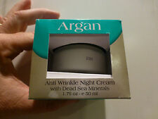 Argan Anti Wrinkle Night Cream with Dead Sea Minerals 1.7 oz.