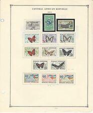 Centrale Africa Collezione 1959-1970 su 12 Scott Internazionale Pagine