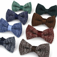 Vintage Lot 8 PCS Men's Knit Bow Tie Adjustable Bowtie Knitted Striped Butterfly