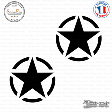 2 Stickers Etoile US Army Star Decal Aufkleber Pegatinas D-479 Couleurs au choix