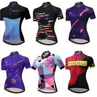 Miloto Ladies Cycling Jersey Top Reflective Women's Bike Bicycle Jersey Shirts