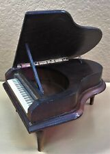 Vintage 1981 Enesco Brown Wood Baby Grand Piano Music Box 'Nocturne' Chopin