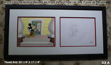 Mickey Mouse Disney 18 YO - Production Cel and Clean-Up Drawing Framed