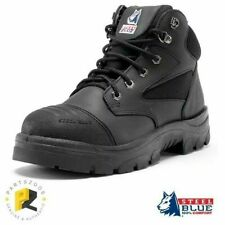 Steel Blue Parkes Zip Work Boots Safety Toe Scuff Cap 312658 SIZE 4 ONLY BLACK