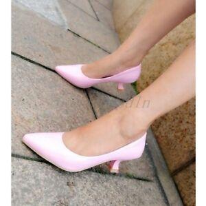 Stylish Multi Color New Fashion Womens Sweet Dress Shoes Low Heel Ladies Pumps