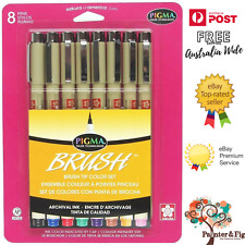 Genuine Sakura Pigma Micron Brush Tip Set of Drawing Pens  - Colours