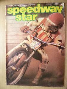 SPEEDWAY STAR MAGAZINE- 10 October 1981 VOL. 30 NO.30