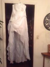 hi lo wedding dress white size 12