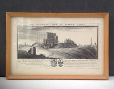 Samuel & Nathanial Buck print South east view of Norwich Castle c1738