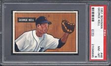 1951 Bowman Baseball #46 George Kell (HOF)(Detroit Tigers)  PSA - 8 NM - MT