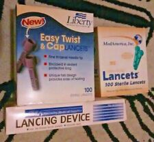 SMS Lancing Device + 200 Lancets Liberty MedAmerica C3 easy twist&cap sterile