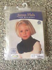 Janus 100% Merino Wool,beige child  Full Coverage Neck Scarf Size 130 Cm ,