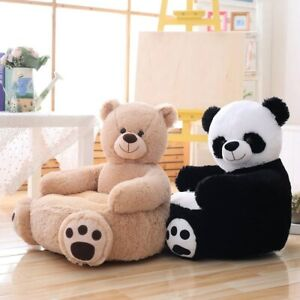 Baby Kids Sofa Only Cover ,NO Filling Cartoon Animal Bear Seat Chair Seat Cover