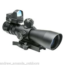 NcStar 3-9x42 P4 SNIPER Scope + Optional Micro Red or Green Dot STP3942G/D v2