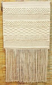 Weaving Wall Hanging Cream/Gold 67cm Wide 135cm Long  NEW