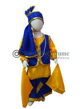 Indian Punjabi Ethnic Bhangra Folk Dance Fancy Dress Costume for Kids Boys