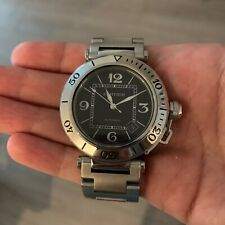 Cartier Pasha Seatimer Steel Watch w/ Papers and Box