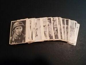 1963 SELMUR COMBAT CARDS 66 with duplicates SERIES 1