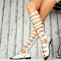 NEU Damen Schuhe Sommer Damen Sandalen Riemchen Gladiator Schnallen Party SeXy