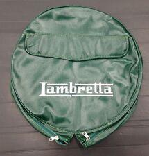 """Spare wheel cover 10"""" with Lambretta logo green/white for Lambretta"""