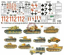 Peddinghaus 1/35 DAK Afrika Korps Tank & Vehicle Markings #2 (11 vehicles) 2094