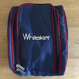 Riding Hat Bag, WHITAKER KETTEWELL, BLUE WITH RED + WHITE, FREE UK Postage