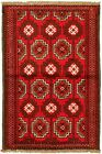 """Vintage Hand-Knotted Carpet 3'5"""" x 5'5"""" Traditional Oriental Wool Area Rug"""