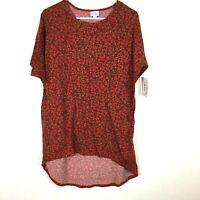 LuLaRoe Womens Irma Half Sleeve Tunic Top Floral Shirt S
