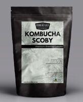 Organic kombucha scoby culture with starter liquid home brew ferment kefir grain