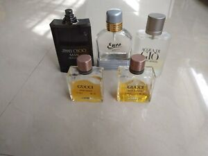 Lot Of 5 Men's Perfumes. Used