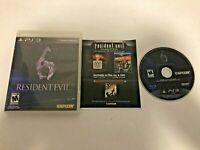 Resident Evil 6 (Sony PlayStation 3, 2012) - GAME DISC, CASE, & PAPERWORK