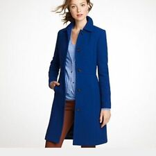 J CREW $365 Petite Double Cloth Lady Day Coat Sz 2P 2 Wool Thinsulate blue