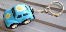 VINTAGE VOLKSWAGEN LOVE BUG KEY-CHAIN REV-N-GO BLUE and YELLOW