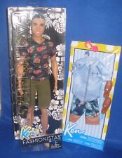 BARBIE COLLECTOR FASHIONISTAS AA KEN FLORAL TEE W/ FASHION OUTFIT, NEW
