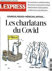 L'EXPRESS n°3630 28/01/2021 Charlatans du virus_Macron & frontières_Biden & Iran