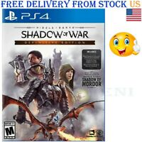 Middle-Earth: Shadow of War Definitive Edition PS4 New Play