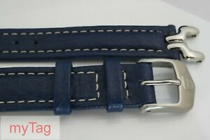 TAG Heuer Ladies Blue Leather SEL 14mm Strap with End Links and Buckle FC8115